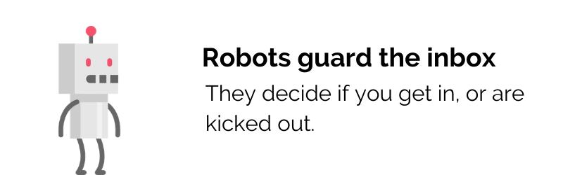 Robots guard the inbox